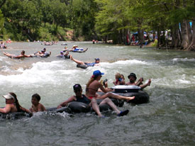 Beautiful Fun Rapids On The Guadalupe River Equals Awesome Tubing!  RiverSportsTubes.com 830 964